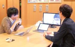 ベトナムの企業とビデオ通話で打ち合わせ